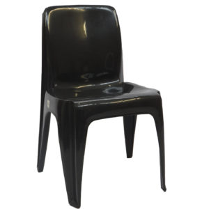 VIRGIN PLASTIC CHAIR BLACK