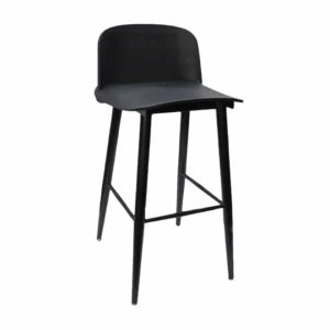 Black bar stool with metal legs for sale