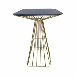 Square glass top bar table