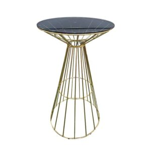 Round Glass Top Bar Table