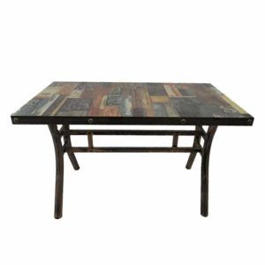 Wooden printed cafe table for sale at Home in 1