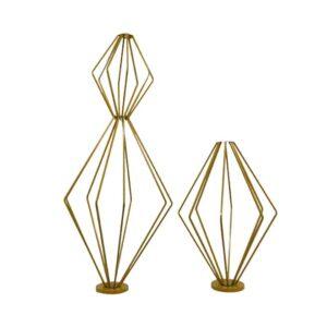 Geometric Metal Flower Stand