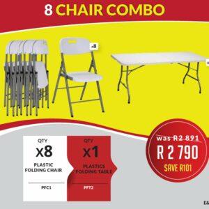 8 Chair Combo